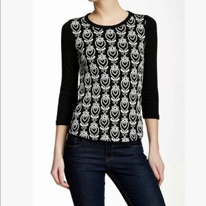 J. Crew embroidered embroidered pullover top